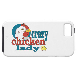 Cartoon Crazy Chicken Lady iPhone SE/5/5s Case