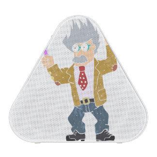 Cartoon crazy scientist. bluetooth speaker