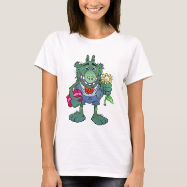 Art Themed Cartoon creature, holding a flower! T-Shirt