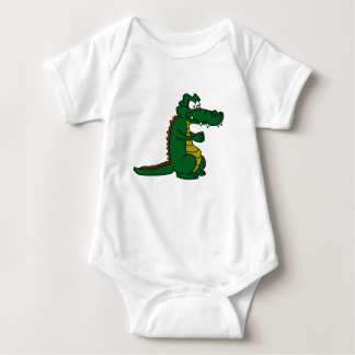 Cartoon croc baby bodysuit