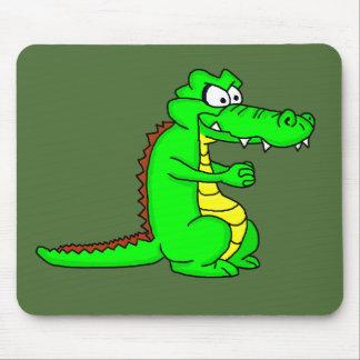 Cartoon croc mouse pad