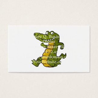 Cartoon crocodile. business card