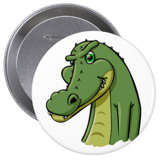 Cartoon Crocodile Buttons