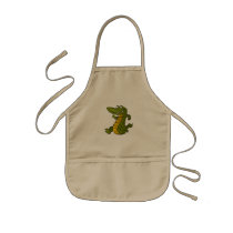 Cartoon crocodile. kids' apron