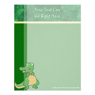 Cartoon Crocodile Letterhead Stationery