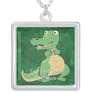 Cartoon Crocodile Necklace