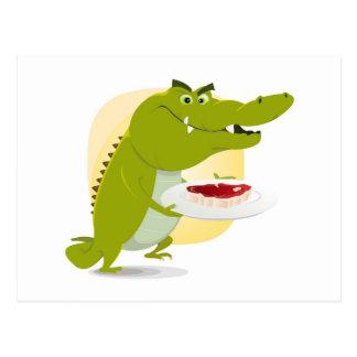 Cartoon Crocodile Set Postcard