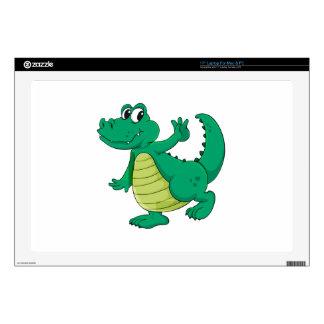 Cartoon crocodile decals for laptops