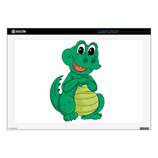 "Cartoon crocodile skins for 17"" laptops"