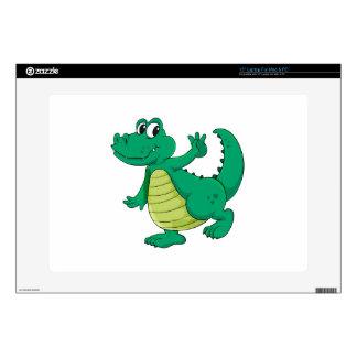 Cartoon crocodile laptop skin