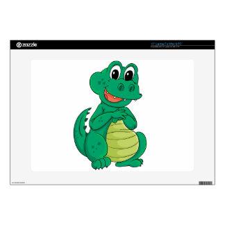 "Cartoon crocodile skin for 15"" laptop"