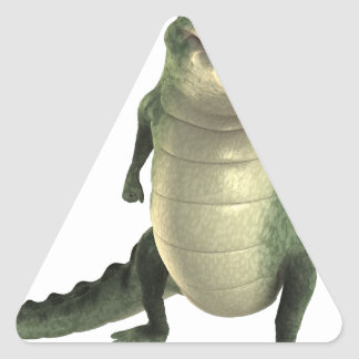 Cartoon Crocodile Triangle Sticker