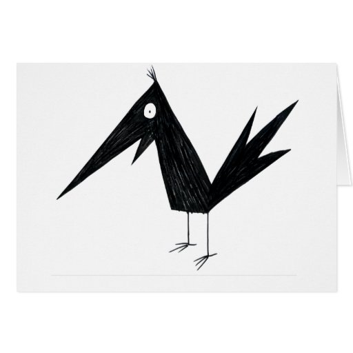 Cartoon Crow Greeting Card