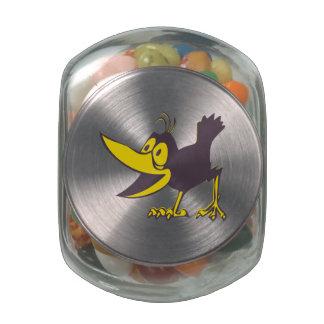 Cartoon Crow Jelly Belly Candy Jar