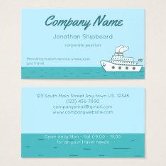 Cartoon Cruise Ship With Smoking Stacks Business Card at Zazzle