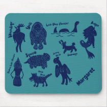 Cartoon Cryptids Cryptozoology Guide Personalized  Mouse Pad