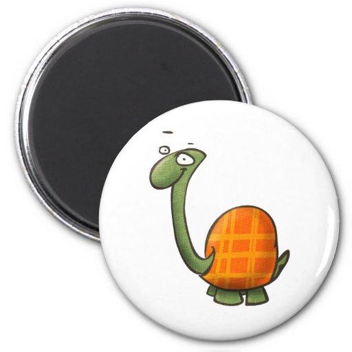 cartoon cute animals - turtle 2 inch round magnet