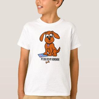 Cartoon Cute Brown Puppy on T-shirt