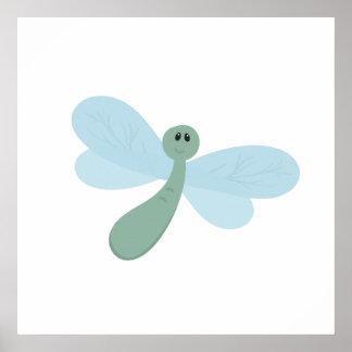 Cartoon Cute Bug Poster