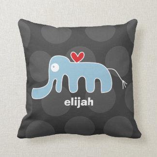 Cartoon Cute Elephant Love Whimsical Kids Cushion