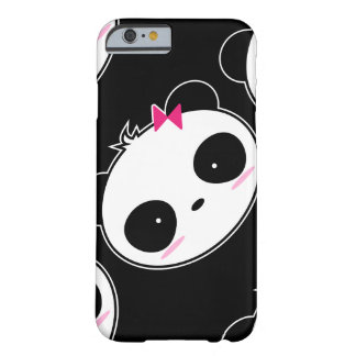 Cartoon Cute Girl Panda Barely There iPhone 6 Case