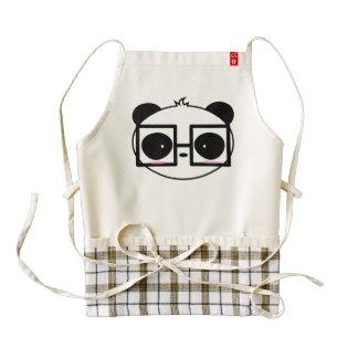 Cartoon Cute Panda Face With Framed Glasses Zazzle HEART Apron