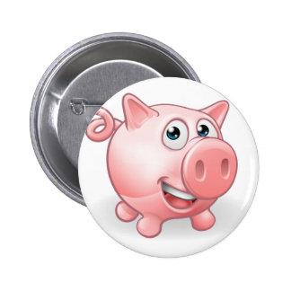 Cartoon Cute Pig Farm Animal Button