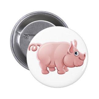 Cartoon Cute Pig Farm Animal Pinback Button