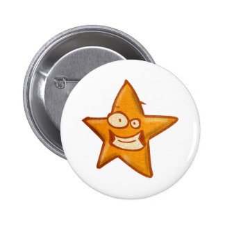 cartoon cute star pinback button