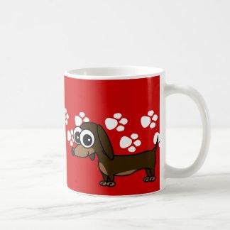 Cartoon Dachshund Coffee Mug