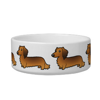 Cartoon Dachshund (longhair) Bowl