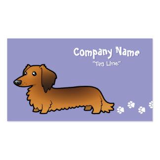 Cartoon Dachshund (longhair) Business Card