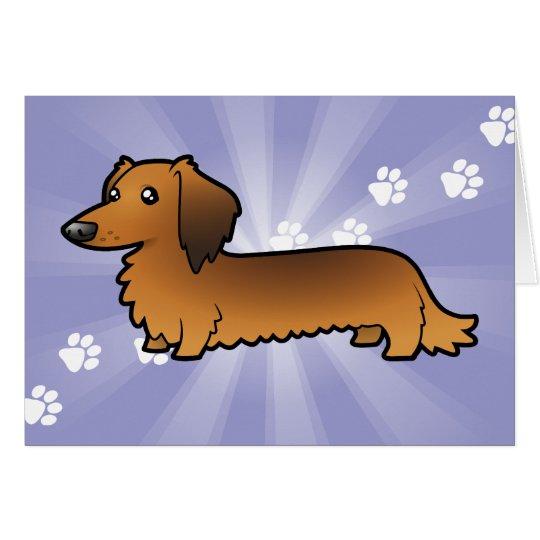 Cartoon Dachshund (longhair) Card