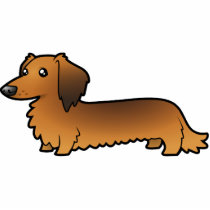 Cartoon Dachshund (longhair) Cutout