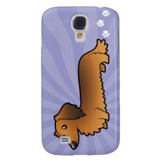 Cartoon Dachshund (longhair) Galaxy S4 Case
