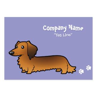 Cartoon Dachshund (longhair) Large Business Card