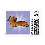Cartoon Dachshund (longhair) Postage Stamp
