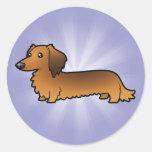 Cartoon Dachshund (longhair) Sticker