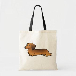 Cartoon Dachshund (longhair) Tote Bag