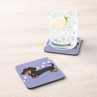 Cartoon Dachshund (smooth coat) Beverage Coasters