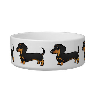 Cartoon Dachshund (smooth coat) Bowl