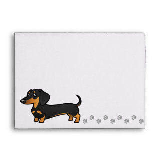 Cartoon Dachshund (smooth coat) Envelopes