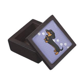 Cartoon Dachshund (smooth coat) Gift Box