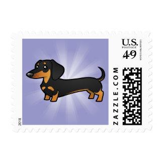 Cartoon Dachshund smooth coat Postage Stamp