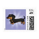 Cartoon Dachshund (smooth coat) Postage Stamp