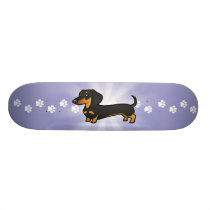 Cartoon Dachshund (smooth coat) Skateboard