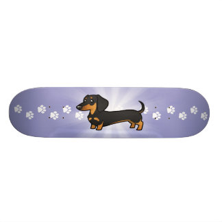 Cartoon Dachshund (smooth coat) Skateboard