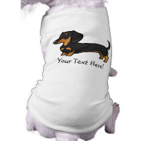 Cartoon Dachshund (smooth coat) T-Shirt