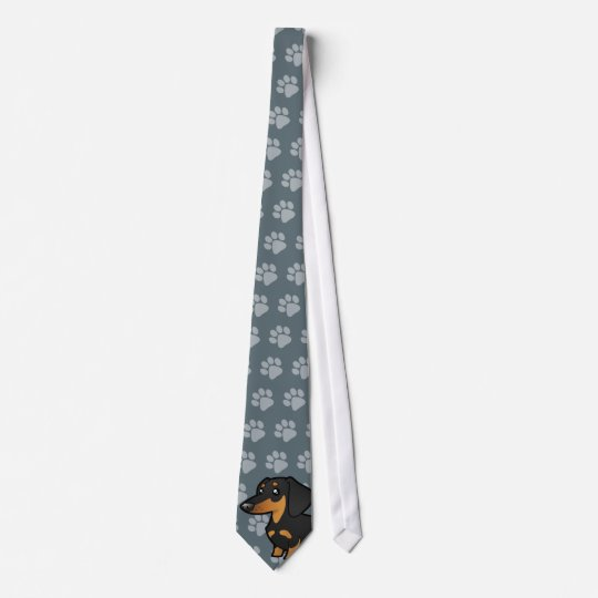 Cartoon Dachshund (smooth coat) Tie