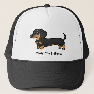 Cartoon Dachshund (smooth coat) Trucker Hat